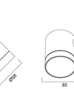 Concord Beacon Hi-Spot ES50 line drawing
