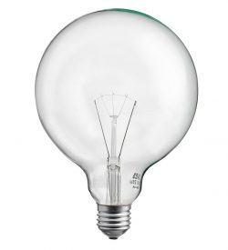 Globlampa Klar 125mm 25W E27