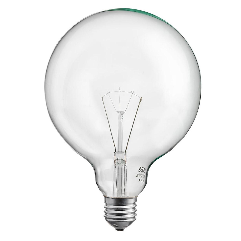 Globlampa Klar 125mm 60W E27