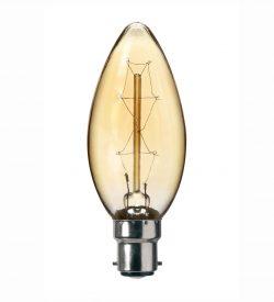 VINTAGE Candle 40W 230/240V B22