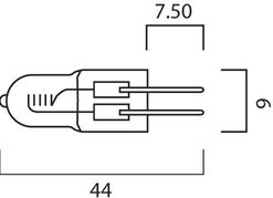 Stifthalogen Capsule 12V 35W GY6.35