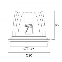 Lumiance Insaver 75 LED Dim 1-10V 1131lm 830 Vit line_drawing