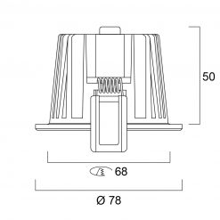 Lumiance Instar Eco Kit LED 2700K Dimbar Vit line drawing