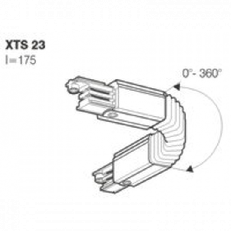 GLOBAL Trac Pro Flexibel Vridskarv Svart XTS23