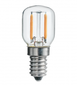 Päronlampa LED Klar Dim 1,5W 60lm 2200K E14