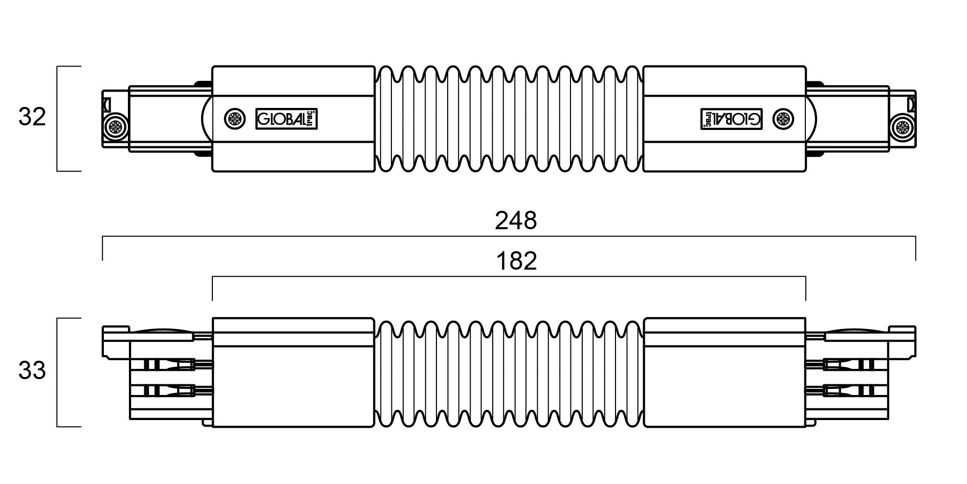 Global Trac Pro XTS23-1 Flexibel skarv Grå