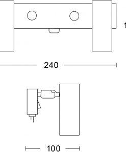 Örsjö PUCK Svart struktur Kabel med plug-in trafo