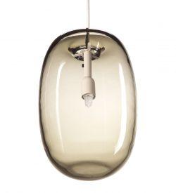 Örsjö PEBBLE Långsträckt Varmgrå Glas