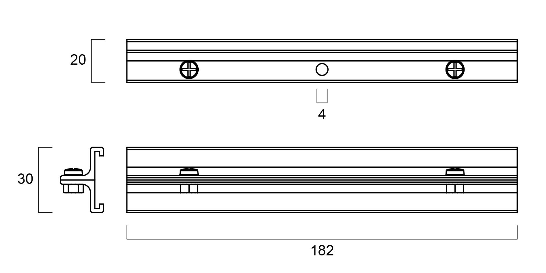 GLOBAL Trac Pro SKB18-2 Skarvstöd svart