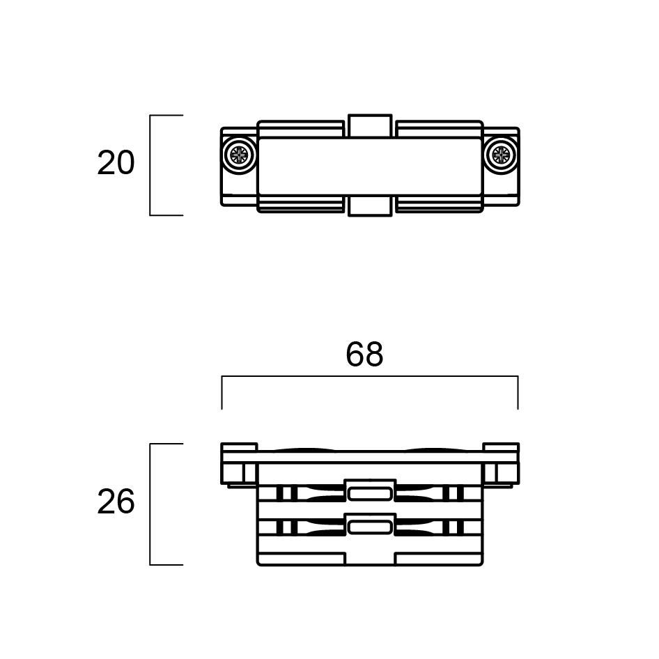 GLOBAL Trac Pro XTS21-2 Rak Koppling svart