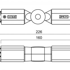GLOBAL Trac Pro XTS24-1 Justerbar Vridskarv Grå