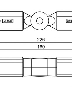 GLOBAL Trac Pro XTS24-2 Justerbar Vridskarv Svart