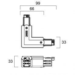 GLOBAL Trac Pro XTS34-2 L-Skarv Insida Svart
