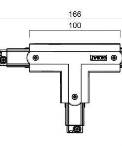 GLOBAL Trac Pro XTS37-2 T-Skarv Insida Vänster Svart