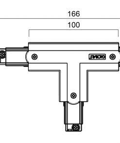 GLOBAL Trac Pro XTS39-2 T-Skarv Utsida Vänster svart