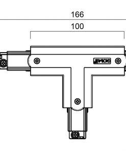 GLOBAL Trac Pro XTS40-3 T-Skarv Insida Höger Vit