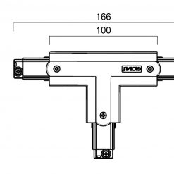 Global Trac Pro XTS37-1 T-Skarv Insida Vänster Grå