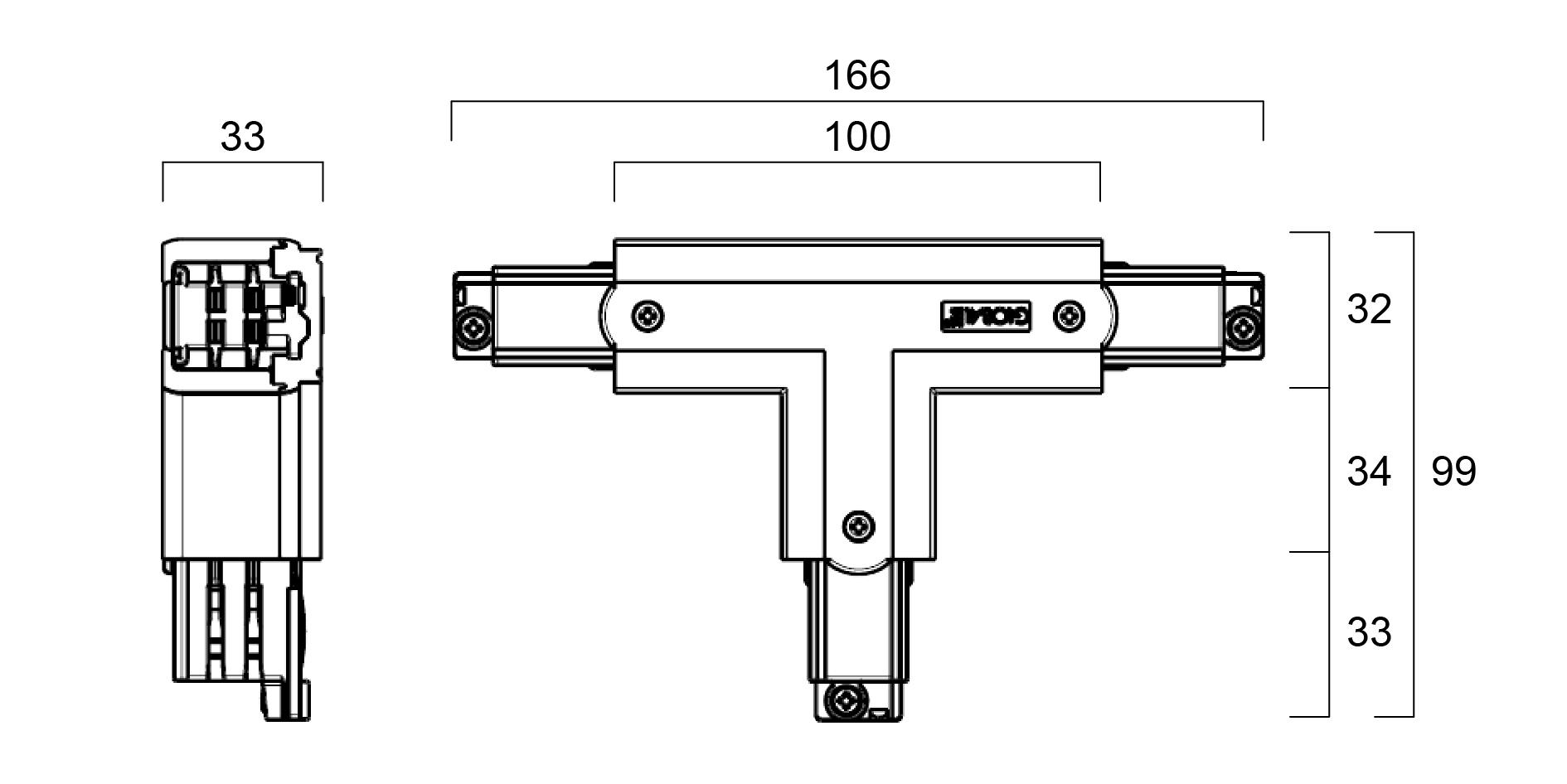 Global Trac Pro XTS40-1 T-Skarv Insida Höger Grå