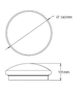 Sylvania SylCircle LED-plafond närvarosensor