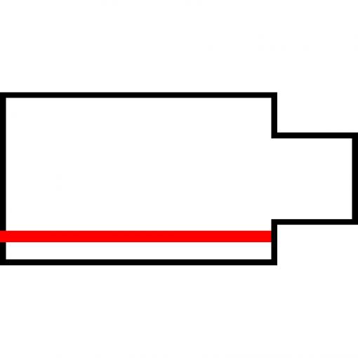 Global Trac Pro XTS11-1 Ändanslutning Vänster Grå ritning