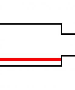 Global Trac Pro XTS11-3 Ändanslutning Vänster vit ritning