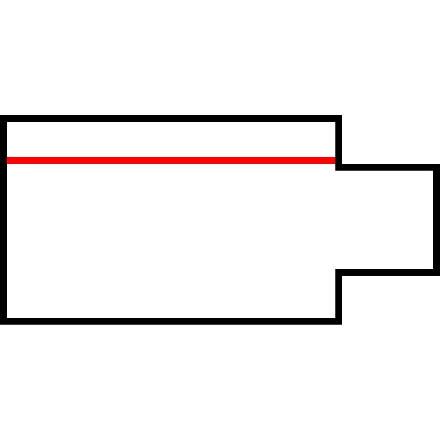 Global Trac Pro XTS12-3 Ändanslutning Höger vit ritning