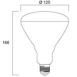 Sylvania Grolux LED Vegetative E27