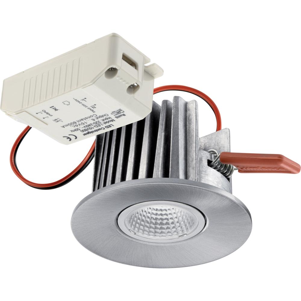 Lumiance Instar Eco Kit LED 2700K Dimbar Borstad Aluminium