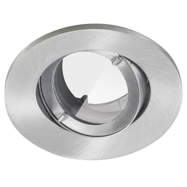 Lumiance INSET TREND 75 SWING IP44 Borstad aluminium