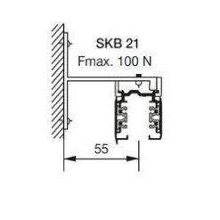 GLOBAL Trac Pro SKB21-1 Väggfäste Aluminium 1