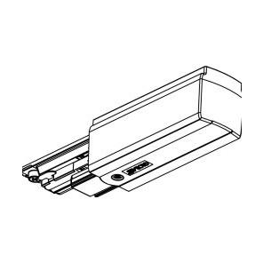Global Trac Pulse XTSC612-3 Ändstycke med matning Vit Ritning