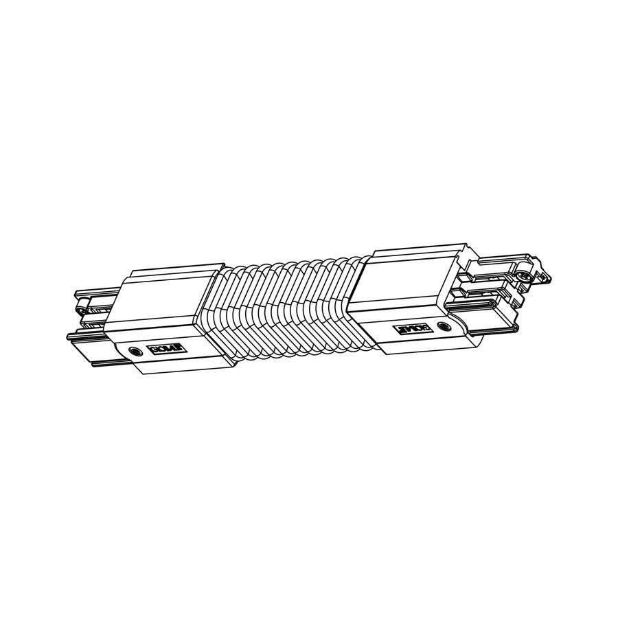 Global Trac Pulse XTSC623-2 Flexibel Skarv Svart Ritning