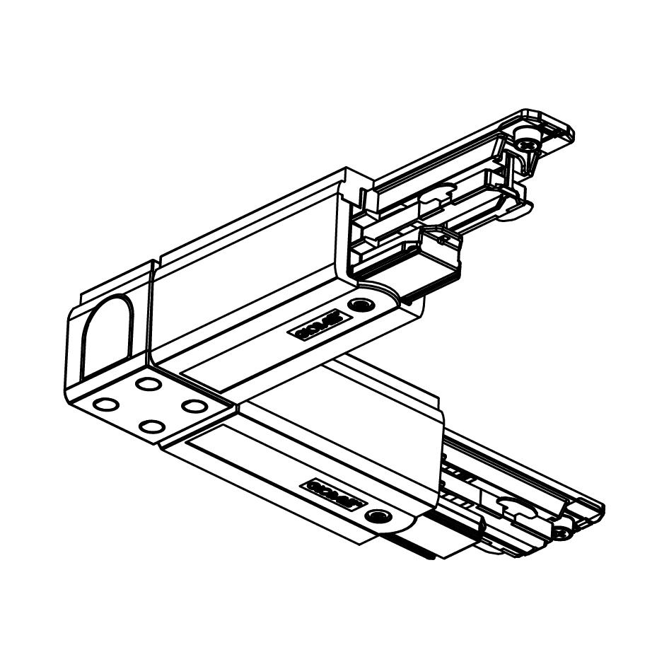 Global Trac Pulse XTSC634-2 L-skarv Insida Svart Ritning