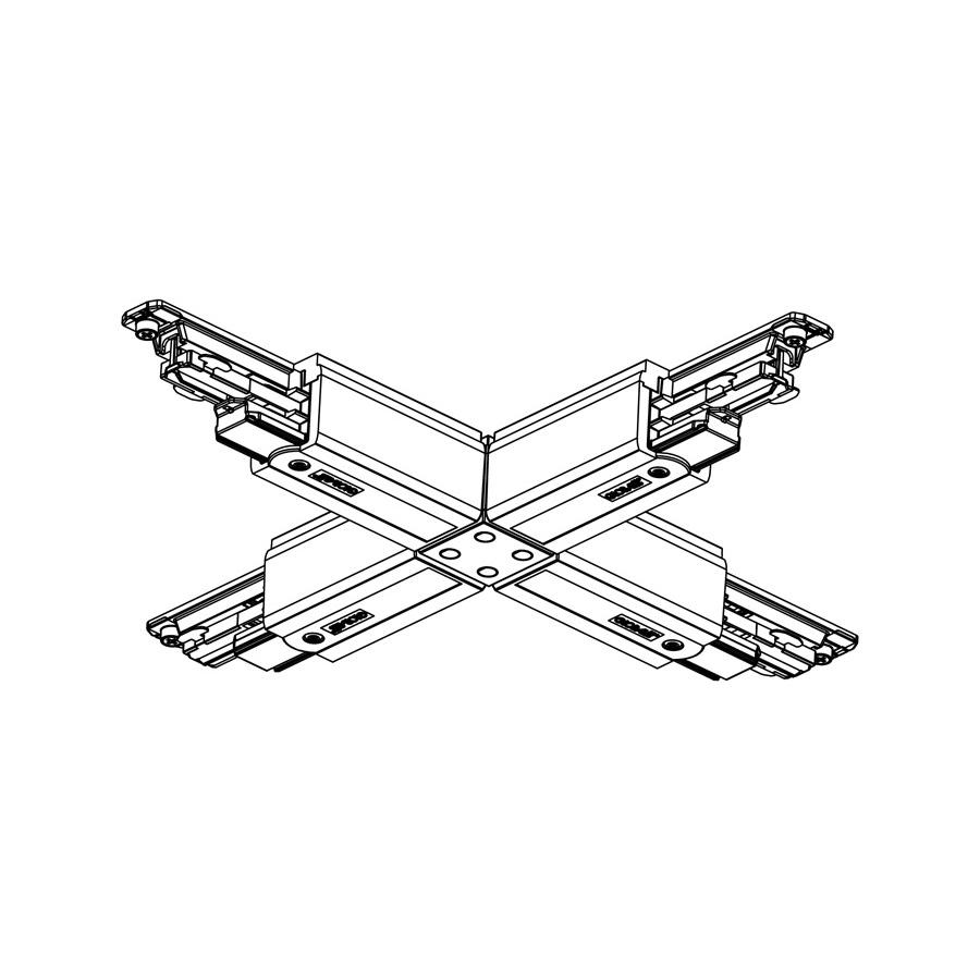 Global Trac Pulse XTSC638-2 X-skarv Svart Ritning
