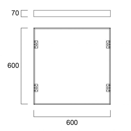 Sylvania Monteringsram utanpåliggande 600x600x70 1