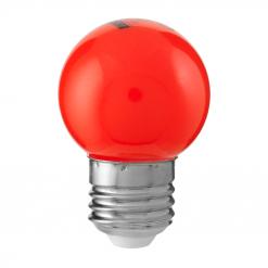 Klotlampa Färgade Röd 0,8W E27